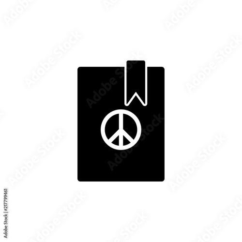 Peace Book Icon Element Of Human Rights Icon Premium Quality