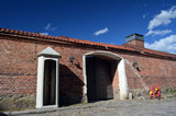 An ancient city, located inside an old fortress. Preserved style and architecture of antiquity. Historical town Fredrikstad.Named after the Danish King Fredericks II. - 217815010