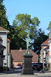 An ancient city, located inside an old fortress. Preserved style and architecture of antiquity. Historical town Fredrikstad.Named after the Danish King Fredericks II. - 217815039