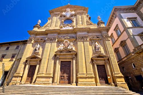 Leinwanddruck Bild Church of San Michele degli Antinori in Florence street view