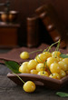 Quadro yellow cherry organic berry, healthy food