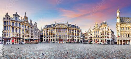 Foto Spatwand Brussel Panorama of Brussels, Belgium