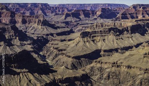 Aluminium Arizona panorama of the Colorado river winding through the Grand Canyon