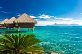 Overwater bungalows, Tahiti, French Polynesia - 217834230
