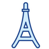 Eiffelturm in Paris, Frankreich Vector Icon Illustration