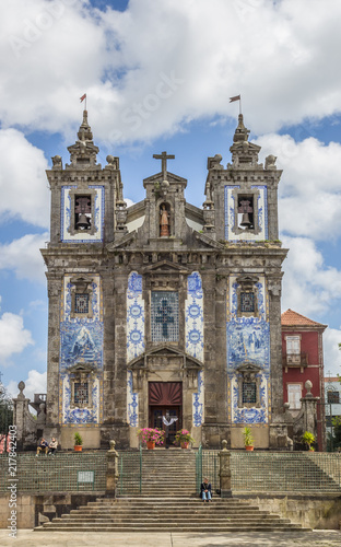 Church of Saint Ildefonso in the historical center of Porto, Portugal