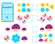 Math educational game for children. Complete the mathematical equation task, choose more, less or equal - 217847855