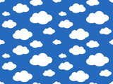 Cute Clouds Pattern. Endless Vector. - 217857491