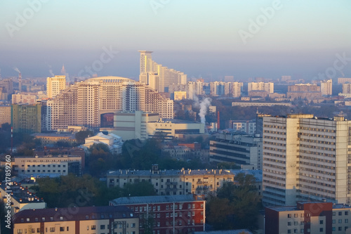 Canvas Moskou View of Moscow city, Russia, at morning