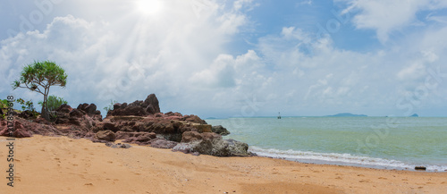 Natural scenery, seashore and rocks - 217859618