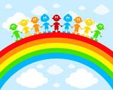 Children on a rainbow