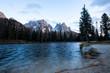 Quadro Majestic autumn landscape, alpine glacier lake Antorno. Dolomites, Italy, Europe