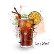 Leinwanddruck Bild - Hand drawn illustration of cocktail.