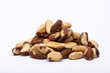 Quadro Brazil nuts isolated on a white background