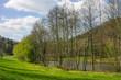 Leinwanddruck Bild - Frühling am Silzer See