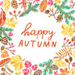 Autumn lettering. Fall banner template vector illustration