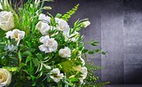 Composition with bouquet of freshly cut flowers - 217902647