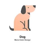 Dog Mono Color Icon