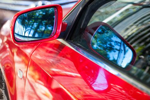 side mirror in a modern car - 217906459