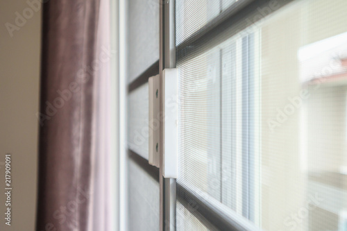 mosquito net wire screen on house window protection against insect - 217909091