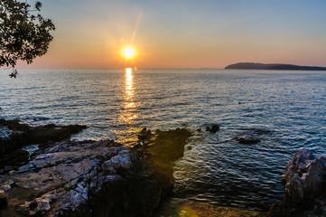 Sunset over Adriatic See near Pula (Croatia)