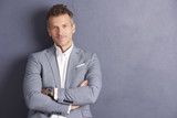 Mature businessman portrait - 217929646
