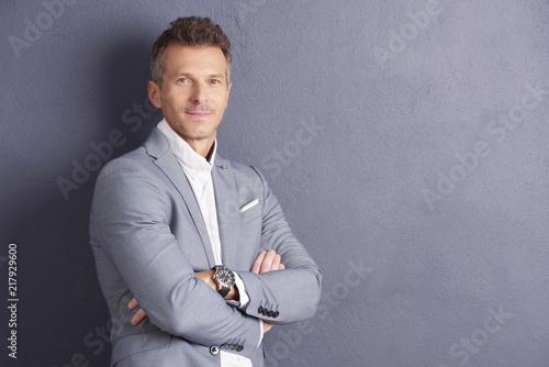 Foto Murales Mature businessman portrait
