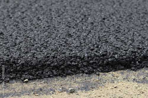 In de dag Stenen Close-up of tar used in road construction
