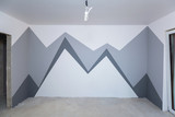 Children room interior with mountain paint - 217937655