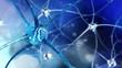 Nerve node, neural network, Nervous system. 3D rendering
