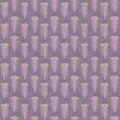 Violet floral flowering background of falling lilac flowers with green leaves vector seamless pattern.