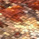 3d rendered geometric pattern.
