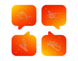 Pilates, bobsled and horseback riding icons.