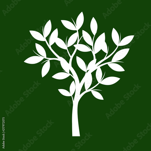 Shape of white Tree. Vector Illustration. - 217972075