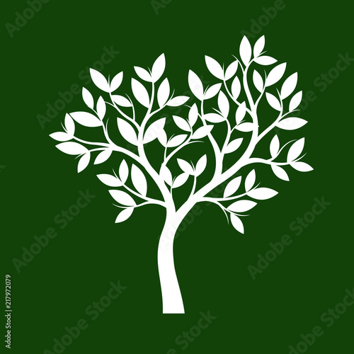 Shape of white Tree. Vector Illustration. - 217972079