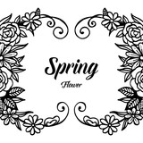Spring flower card hand draw design vector illustration - 217984253