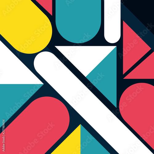 figures geometrics and colors background - 217989656