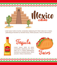 Mexican Culture Set Icons Sticker