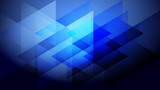 Abstract blue light and shade creative background with triangle. Vector illustration. - 218003827