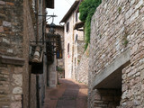 Assisi,Italy-July 28, 2018: Street view in Assisi