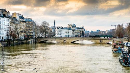 Naklejka Inondations lors de la crue de la Seine en 2017