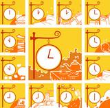 時計で一日の予定を表すアイコン