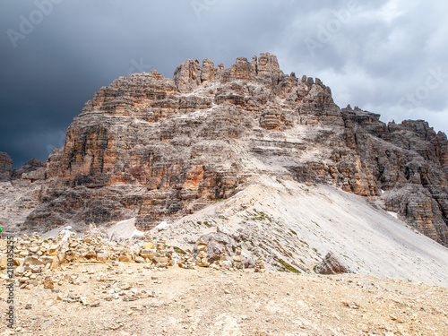 Aluminium Beige Monte Paterno, aka Paternkogel, near Tre Cime di Lavaredo in Dolomites, Italy.