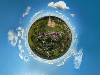 Mozhaisk Kremlin, Mozhaisk, Russia. Panorama 360. Aerial © Andrei Pozharskiy