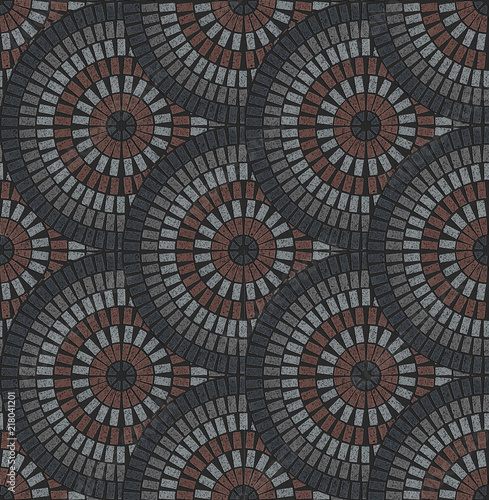 European Fan Pattern In Patio Paving Variegated Texture Buy Photos