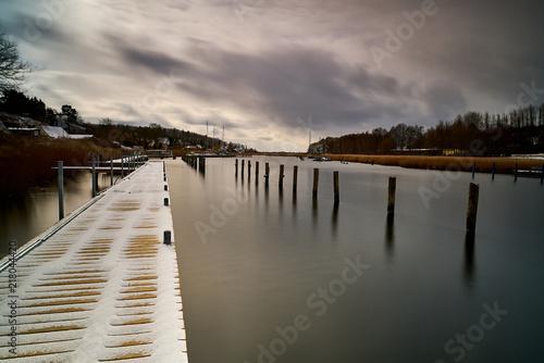 Aluminium Pier Rügen-Winter-Impressionen