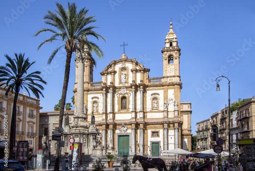 Plexiglas Palermo San Domenico church, Palermo, Italy
