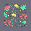 Floral pattern, doodle flowers, vector illustration. - 218052481