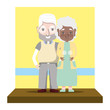 cute woman and man elderly couple