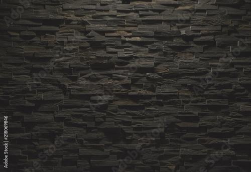 In de dag Stenen Black stone wall texture
